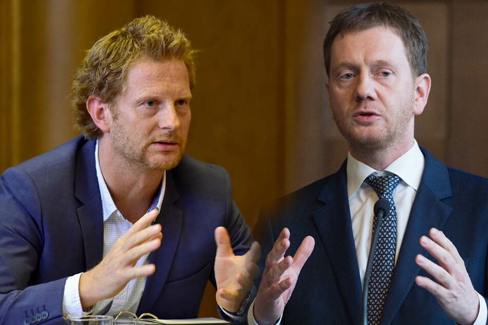 Baudezernent Michael Stötzer und MP Michael Kretschmer sehen sich zum Verwechseln ähnlich.