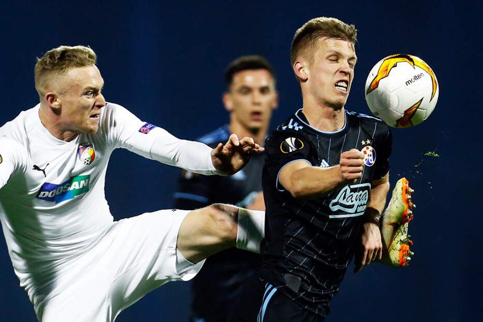 Dani Olmo (r.) zeigte bei Dinamo Zagreb herausragende Leistungen im offensiven Mittelfeld.