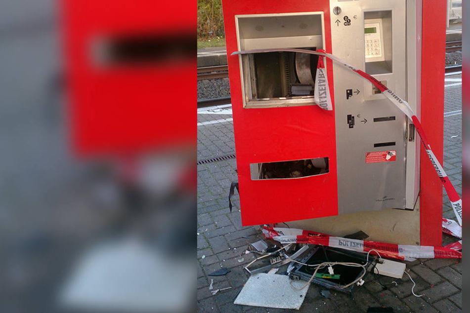 Am Bahnhof in Döbeln haben Unbekannte einen Fahrkahrtenautomat gesprengt. (Symbolbild)