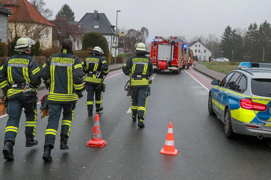Ein Großaufgebot rückte in Bielefeld aus.