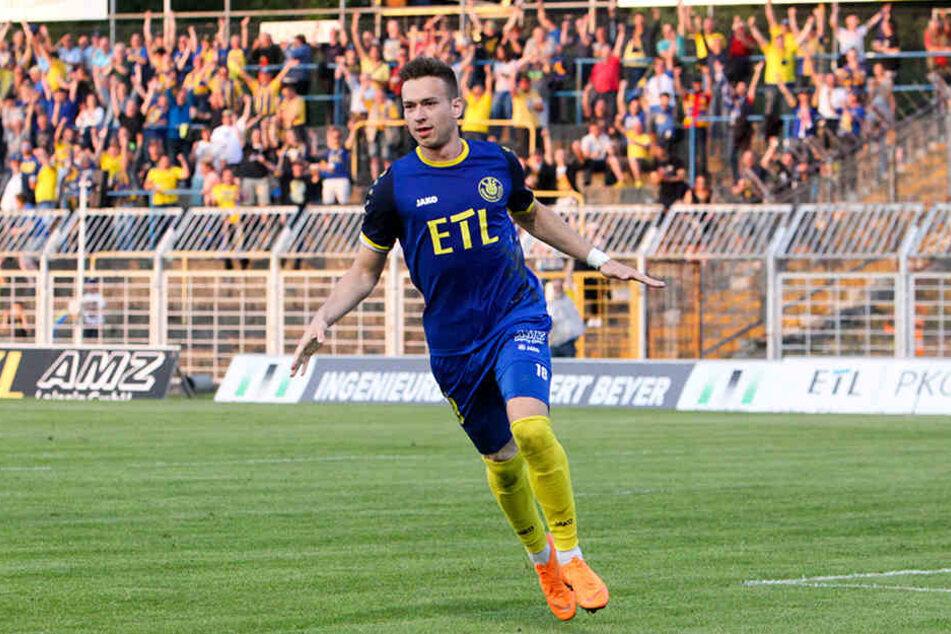Nils Gottschick erzielte in der 61. Minute das 1:0 für Lok Leipzig.