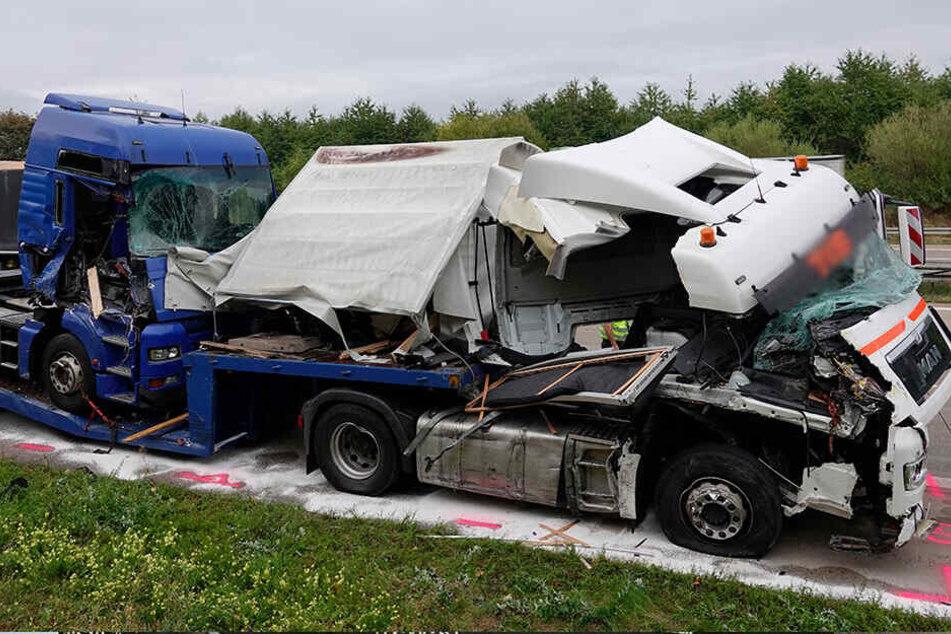 Zwischen Chemnitz-Mitte und Chemnitz-Glösa ereignete sich der Unfall mit dem Lkw.
