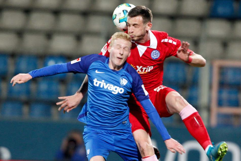 Luke Hemmerich (l.) spielte siebenmal für den VfL Bochum in Liga zwei.