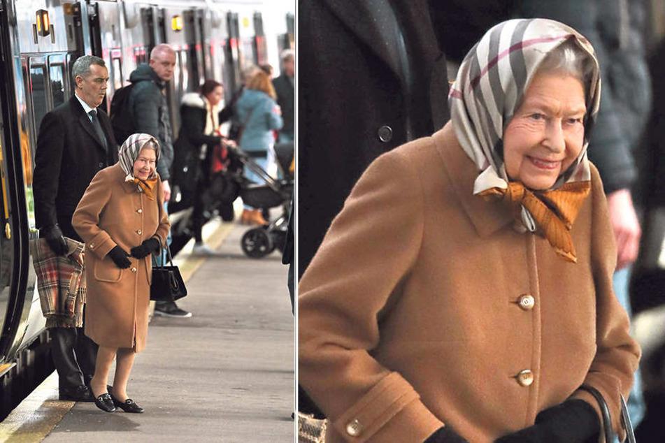 Die Queen (92) fährt jedes Jahr kurz vor Weihnachten mit dem öffentlichen Zug Richtung Sandringham - aus Kostengründen.