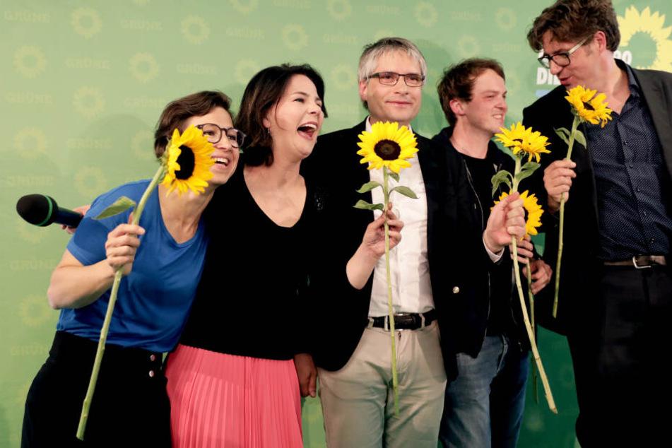 Die Grünen feiern ein historisch gutes Wahlergebnis in Berlin.