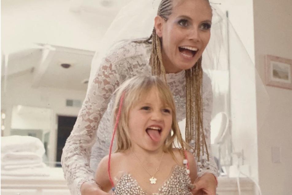 Heidi Klum zeigt erstmals Tochter Leni auf Instagram und erntet Kritik