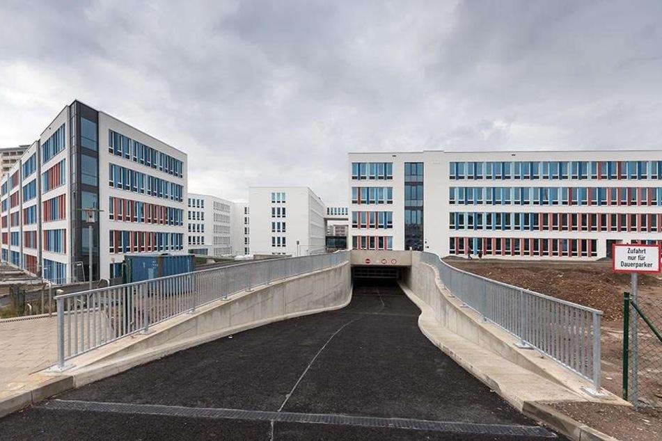 Schnappschuss aus einem leeren Gebäude: Das Neue Technische Rathaus verwandelte sich gestern zur Schau-Stelle.