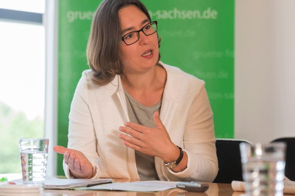 Die hochschulpolitische Sprecherin der Grünen-Fraktion im sächsischen Landtag, Claudia Maicher (39).