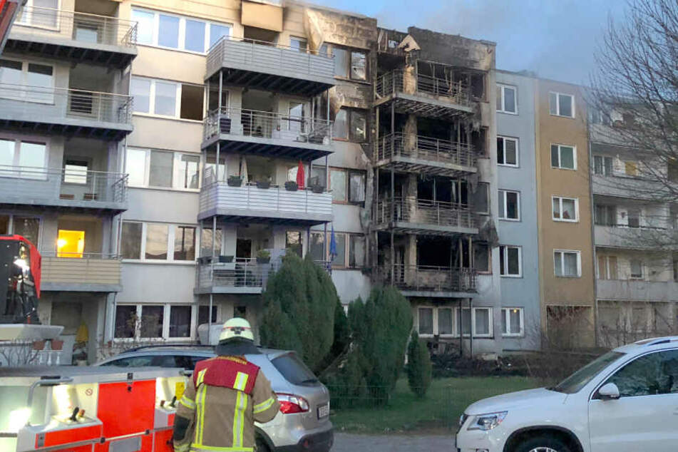 Das Feuer wütete über mehrere Stockwerke.