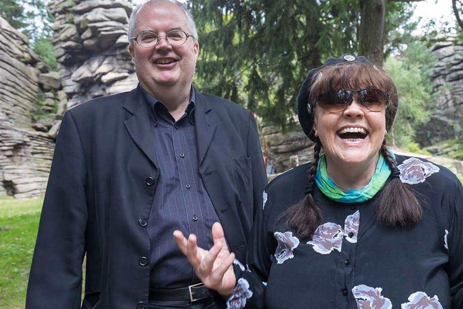 Intendant Ingolf Huhn (63, links) freute sich am Sonntag über den Besuch von Chris Doerk (76).