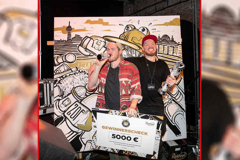 """Das Duo Capstan & Tulip gewann die ostdeutsche """"Paint Club Battle League"""" am Samstag in Dresden."""