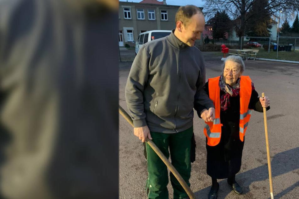 Chemnitz: Diese Frau wurde 100 Jahre, doch jetzt nahm sie einen neuen Job an