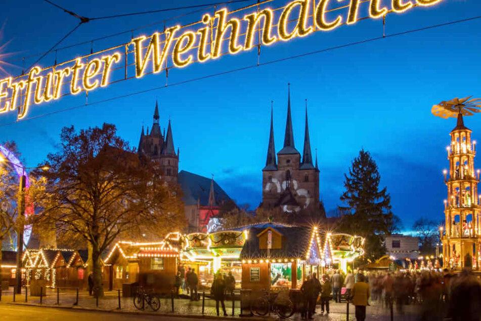 Rund 200.000 Menschen weniger zählte der diesjährige Weihnachtsmarkt in Erfurt.