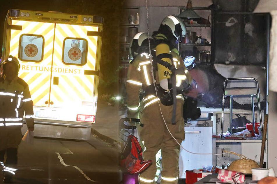 Die Feuerwehrleute konnten den Brand in der Küche der Erdgeschosswohnung schnell löschen.