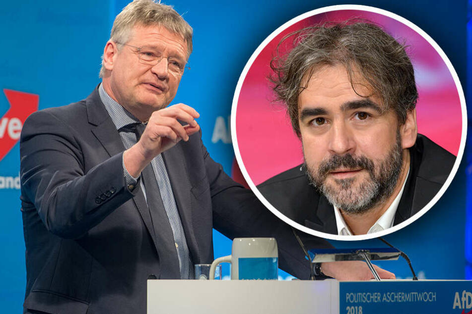 Außenminister Gabriel und Journalist Yücel werden von Meuthen kritisiert. (Bildmontage)