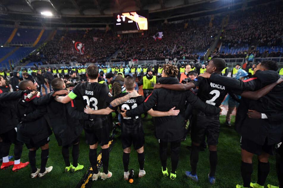 Bei Lazio Rom gewannen die Hessen mit 2:1.