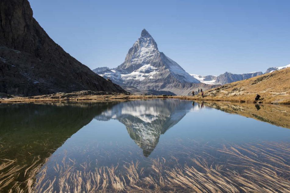 Das Matterhorn ist auch abgebildet auf der Verpackung.