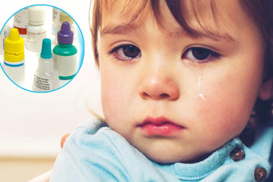 In den Augentropfen für die kleine Tochter hatte sich Nagellack-Entferner befunden (Symbolbild).