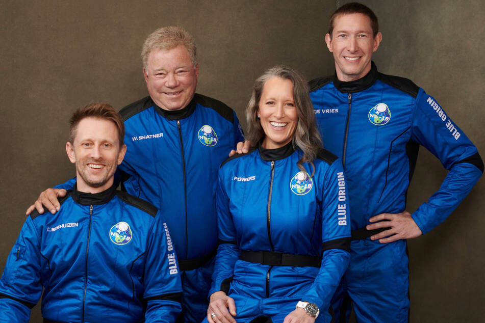 Chris Boshuizen, William Shatner, Audrey Powers und Glen de Vries (v.l.n.r.)
