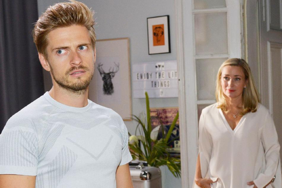 Philip (l.) hat mit Patrizia eine neue Mitbewohnerin.