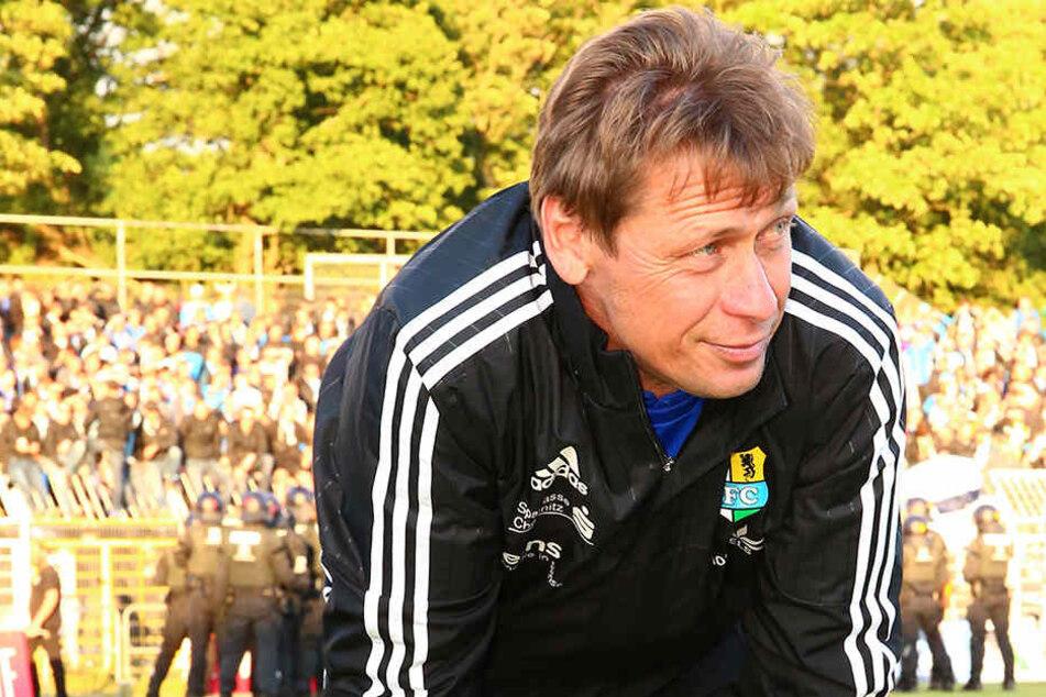 Sven Köhler konnte nach seinem letzten Spiel als CFC-Coach zufrieden gucken.