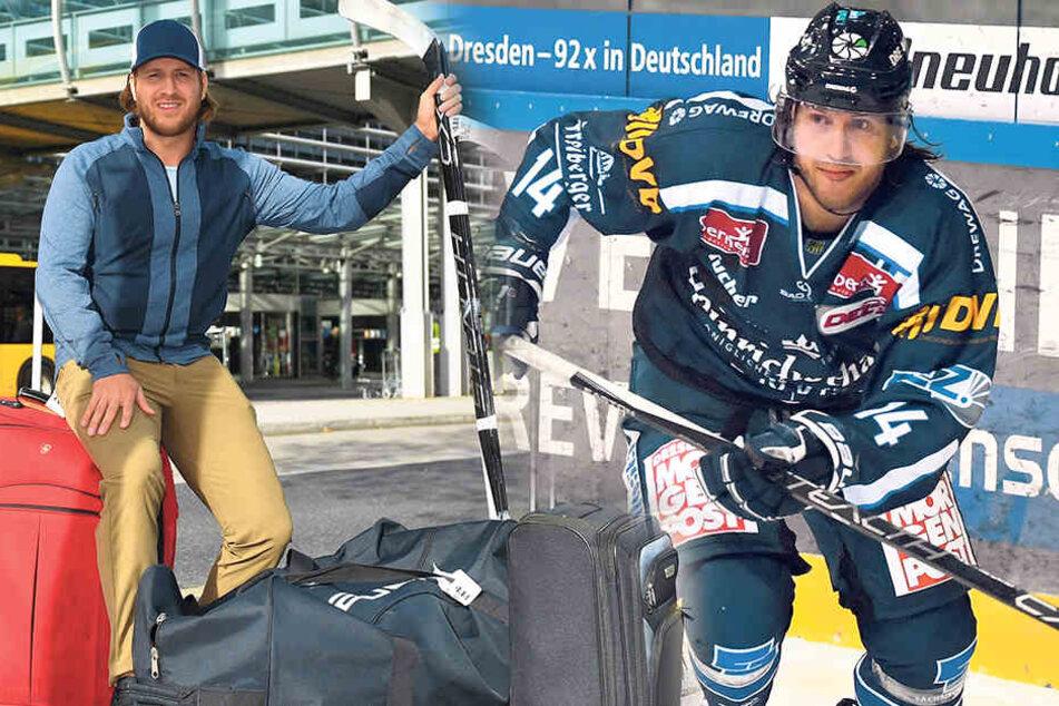 Am 25. Oktober landete Tim Miller in Dresden. Jetzt zieht er mit seinenKoffern schon weiter.