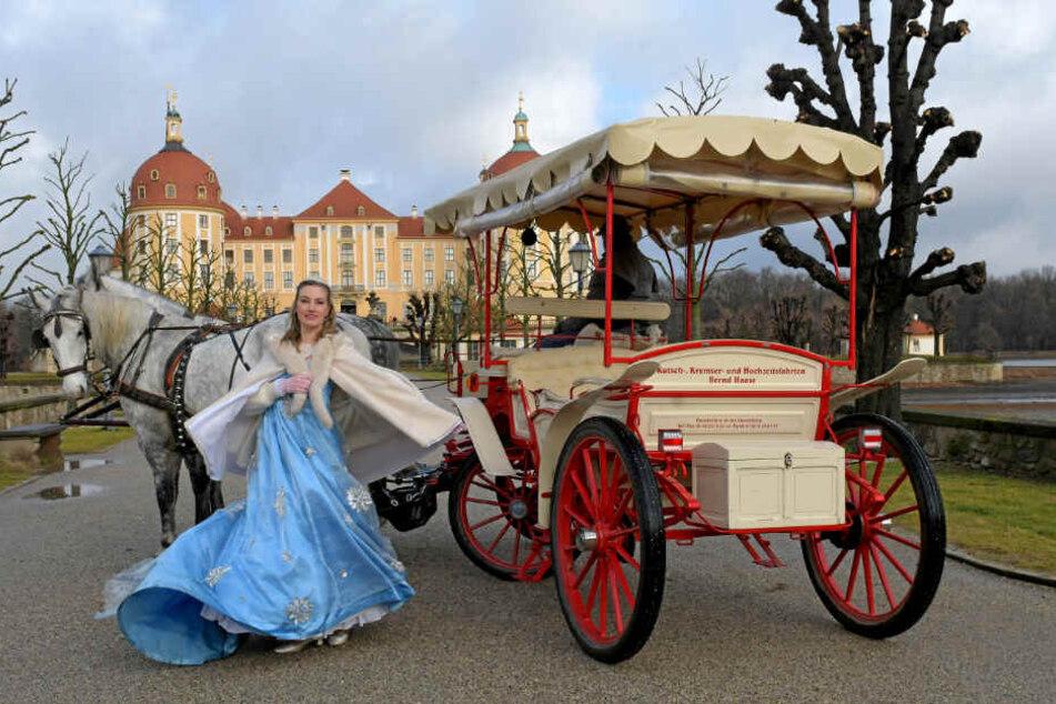 "Titelheldin Sandra Maria Huimann (34) freut sich auf das Open-Air-Musical ""Aschenbrödel"" auf Schloss Moritzburg."