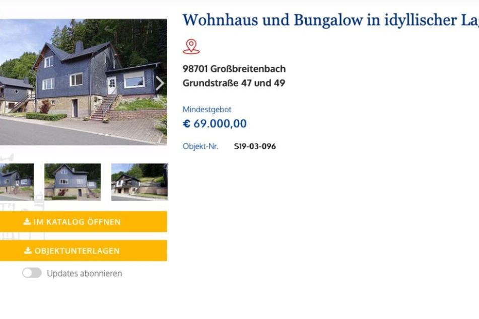 So wird das Haus im Internet angeboten.