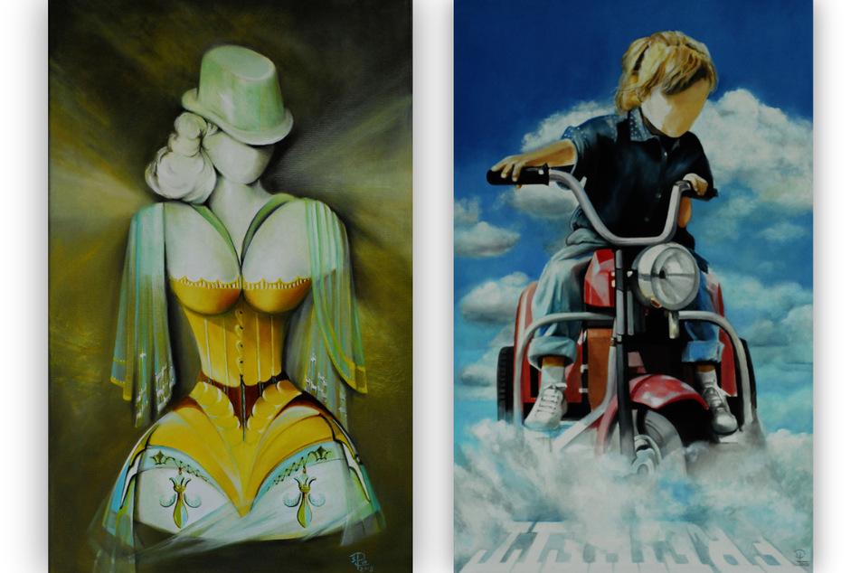 Zwei der sieben Gemälde, die beim ersten Raubzug gestohlen wurden. (Fotomontage)