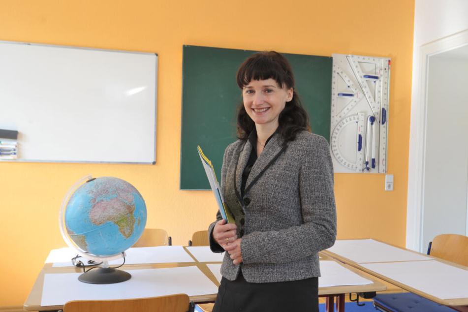 """Kann sich über Arbeit nicht beklagen - ganz im Gegenteil: Yvonne Auerswald (44) vom """"Kopf-Laden"""" auf dem Kaßberg."""
