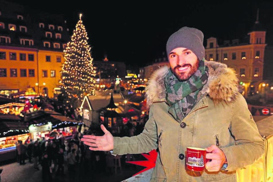 """""""Die Adventsmärkte hier sind sehr schön"""", sagt Nico Antonitsch."""