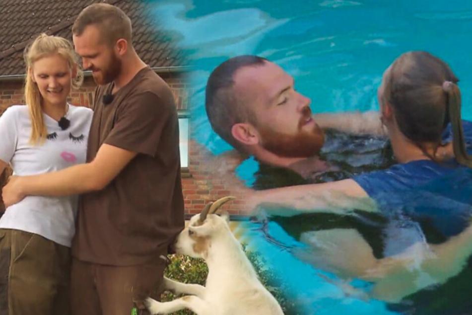 """""""Bauer sucht Frau"""": So nah kommen sich Thomas und Carina im Pool!"""
