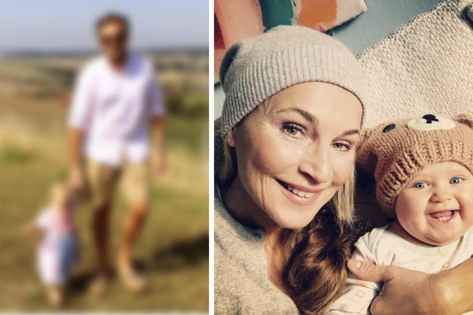 Caroline Beil ganz stolz: Ava (1) vor malerischer Kulisse im ersten Baby-Dirndl