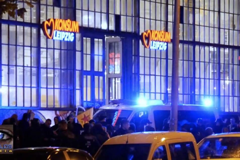 Eine Demonstration im Leipziger Westen war am Freitagabend in einer Auseinandersetzung mit der Polizei geendet.