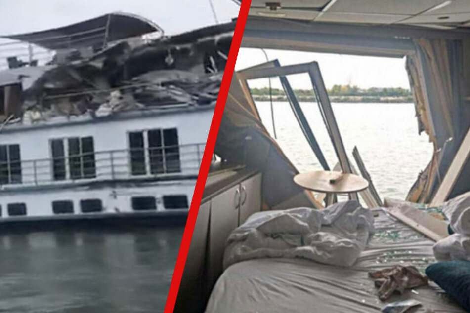Unglück auf der Donau: Frachter reißt vollbesetztes Kreuzfahrtschiff auf