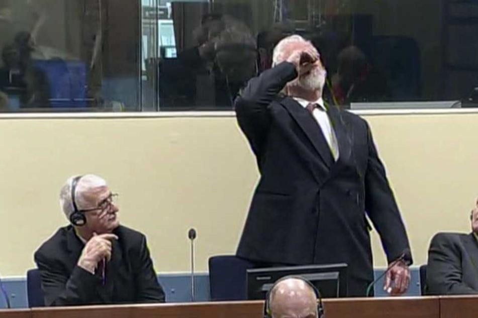 Kurz nach der Urteilsverkündung vergiftete sich der ehemalige General der bosnischen Kroaten.