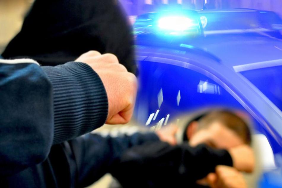 Die Polizei hat die Ermittlungen zu der Attacke aufgenommen. (Bildmontage)