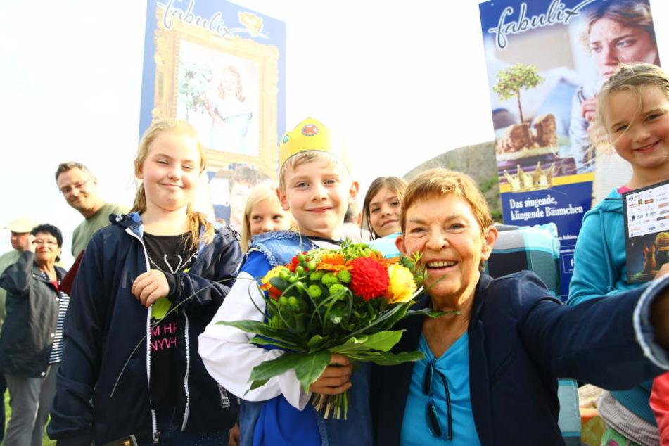 """Festival-Ehrenpräsidentin Christel Bodenstein (Prinzessin Tausendschön aus """"Das singende klingende Bäumchen"""")"""