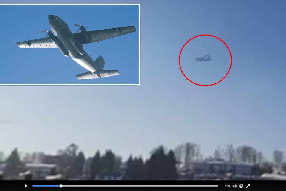 Luftwaffe im Tiefflug: Was macht diese Transall über dem Erzgebirge?