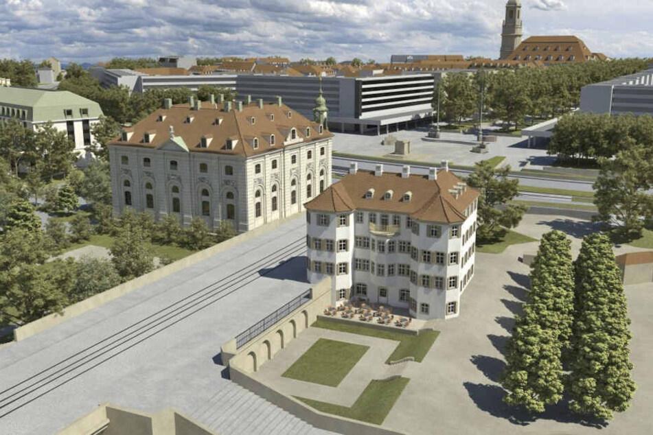 Die Stadt will das Grundstück für das Narrenhäusel (direkt an der Augustusbrücke) verkaufen.
