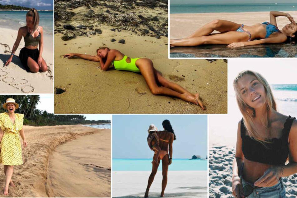 Stars am Strand: Hierhin entfliehen die Promis dem Winterwetter