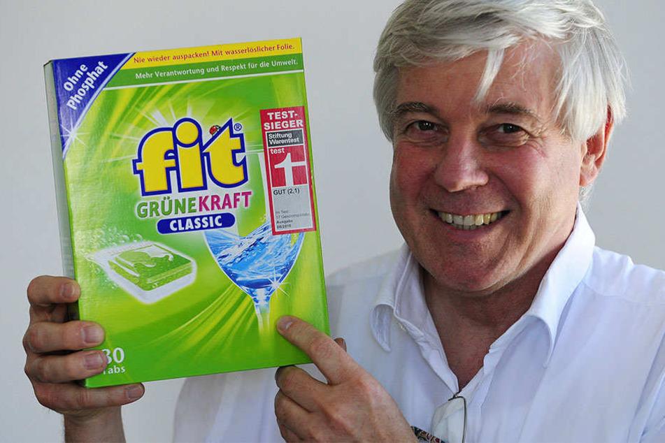 Firmenlenker mit Weitsicht: Fit-Chef Wolfgang Groß (66) - unter seiner Führung wurden bisher insgesamt 170 Millionen Euro in das Traditionsunternehmen in Hirschfelde investiert.