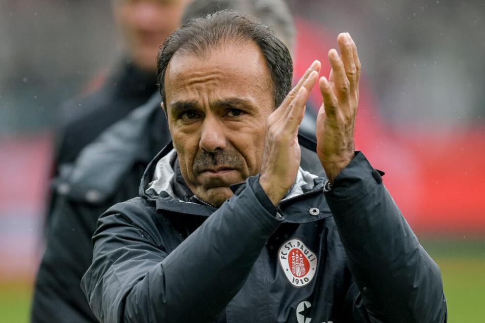 Trainer Jos Luhukay konnte mit dem Auftritt seiner Mannschaft in der zweiten Hälfte zufrieden sein.