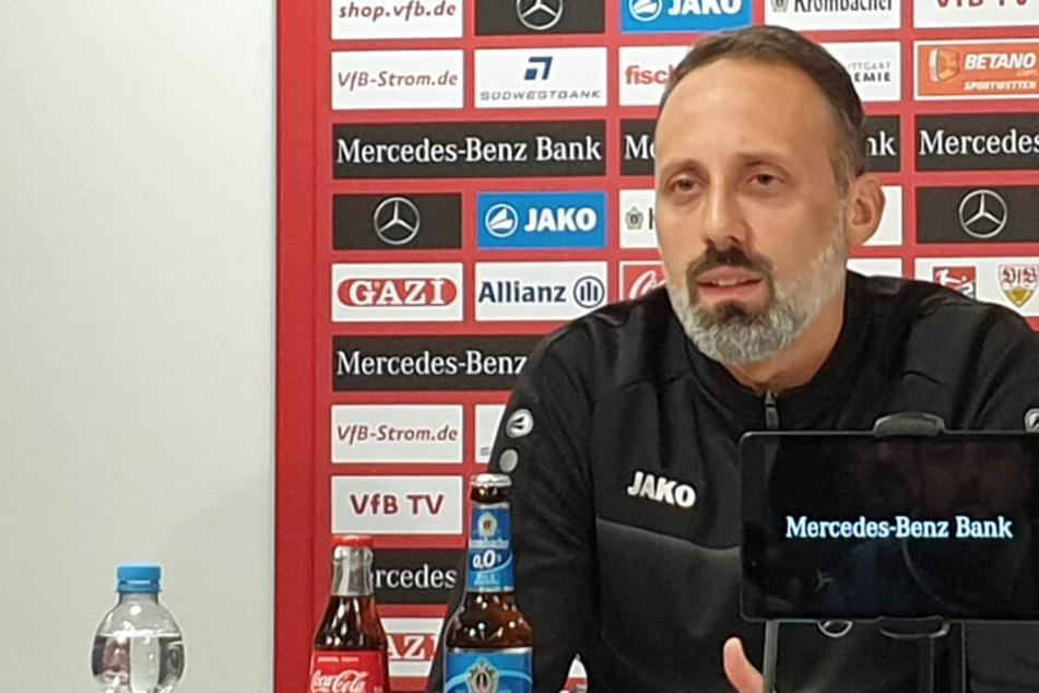 Pellegrino Matarazzo bei der VfB-Pressekonferenz vor dem Heidenheim-Spiel.