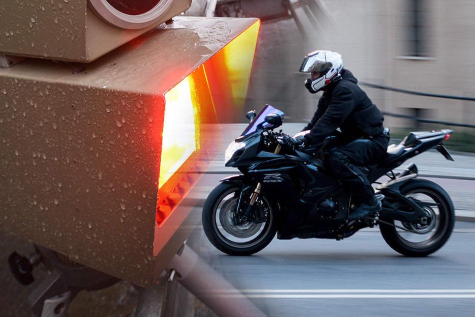 Motorradraser mit Tempo 221 auf Bundesstraße erwischt