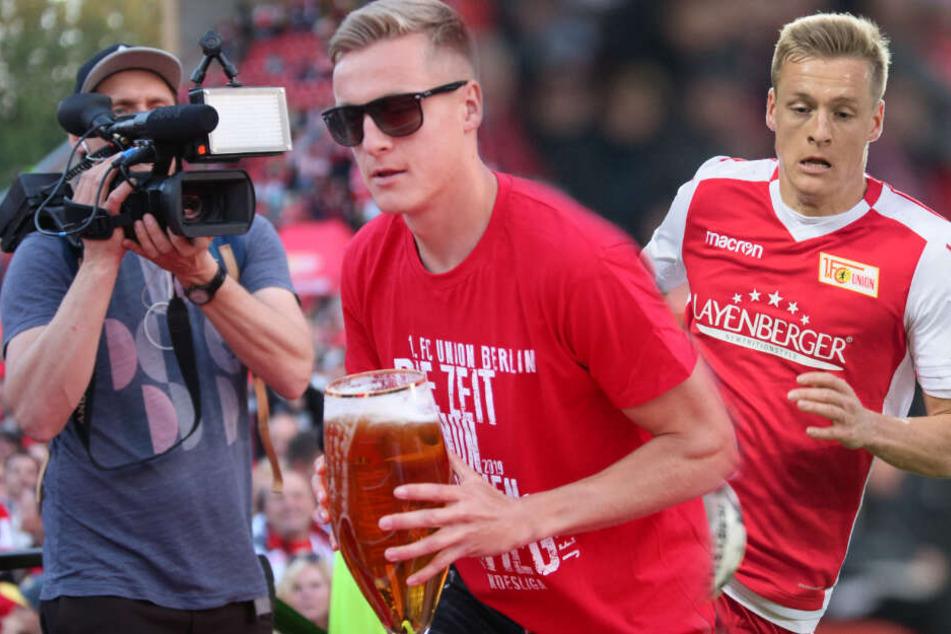 Felix Kroos spielt seit 2016 für Union und feierte erst kürzlich den Aufstieg in die Bundesliga. (Bildmontage)