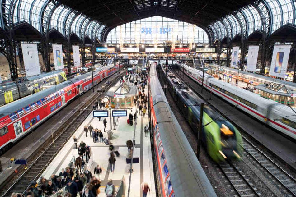 Am Hamburger Hauptbahnhof sollen die Züge jetzt wieder regelmäßiger fahren.