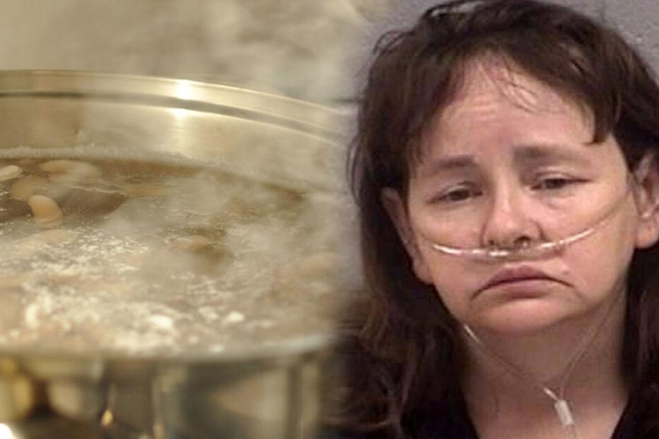 Mutter zwingt Kinder, dabei zuzusehen, wie sie ihre Welpen bei lebendigem Leibe kocht