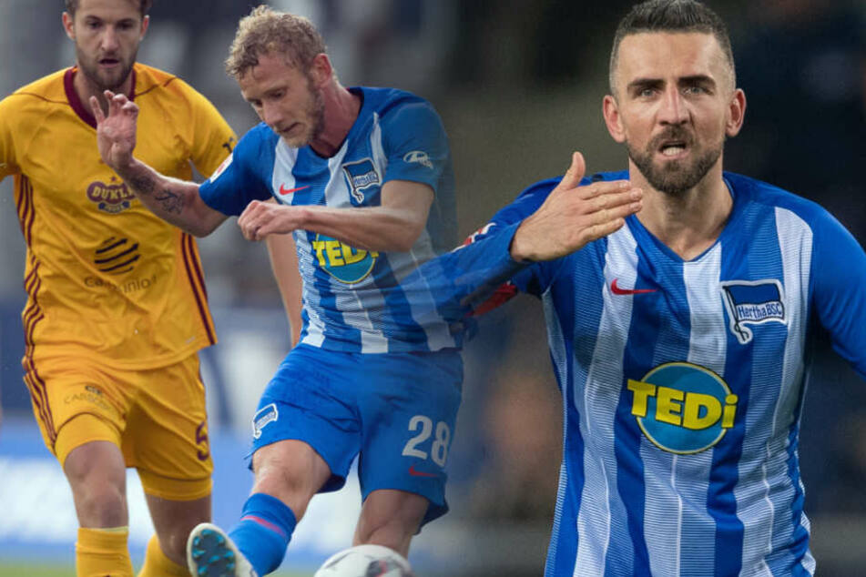 Die Verträge von Kapitän Vedad Ibisevic und Fabian Lustenberger laufen zum Saisonende aus. (Bildmontage)