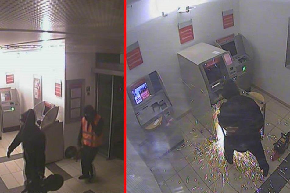 Mit Trennschleifern versuchten die Täter den Geldautomaten zu öffen.